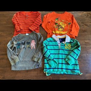 Set of long sleeve shirts size 3t good condition